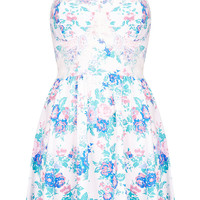 Floral Corset Tunic - Topshop USA