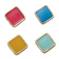 Bright Cube Stud Earrings
