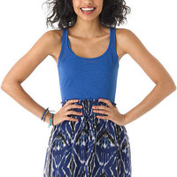 Smocked Ethnic Printed Skirt