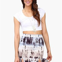 Silver Lining Crop Top - White