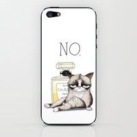 My Grumpy Cat 4 iPhone &amp; iPod Skin by stylishbunny