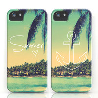 Summer Love &amp; Anchor Vintage Beach iPhone Cases by RexLambo