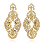 Charm & Chain | Gold Lace Dangle Earrings - Earrings - Jewelry