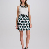 Liya Embellished Knit Tank &amp; Aude Belted Printed Skirt