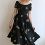 1950s Dress // vintage 50s silk dress // Before We Begin