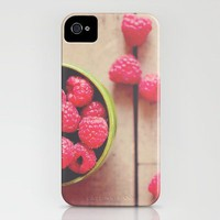 there is something in the red of a raspberry ...  iPhone Case by Laura Evans | Society6