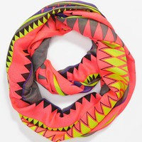 Lulu Sheer Southwestern Print Infinity Scarf | Nordstrom