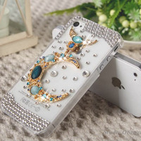 1PC Bling Crystal Moon Plastic Back Rhinestone Hard iPhone 4 Case, Mobile Phone Case