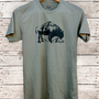 Mountain Buffalo Bison print tshirt - mens tshirt -  by Bark Decor