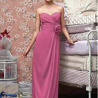 [105.74] Stunning Chiffon Sheath Sweetheart Bridesmaid Dress - Dressilyme.com