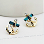 YOLANDA  Studded Anchor Earring Stud