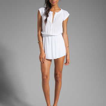 MONROW Basic Blouse Dress in White
