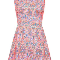 Neon Jaquard Seam Shift Dress - Dresses - Clothing - Topshop USA