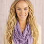 Lilac Solid and Basic Jersey Knit Infinity Loop Scarf - In the Loop Scarf in Lilac