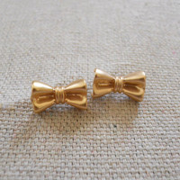 Lovely Bow Studs [3677] - $12.00 : Vintage Inspired Clothing &amp; Affordable Summer Frocks, deloom | Modern. Vintage. Crafted.
