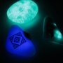 Glass Magnets - Set of 4 - Glow in the Dark