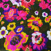 Vintage Hawaiian Fabric Floral Print (VHY Hawaiian Textiles) - 3 YARDS