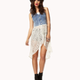 Lace Tail Denim Vest