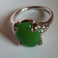 Malay Jade gemstone ring by Paulination on Etsy