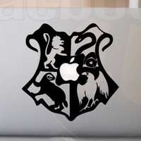 Hogwarts Crest sticker for MacBook