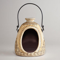 Ivory Terracotta Henna Lantern