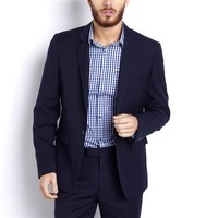1-Button Fitted Suit Jacket, Lined