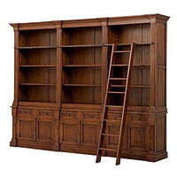 EICHHOLTZ: Libreria in quercia con scala scorrevole KING WILLIAM - 250X332X51 cm