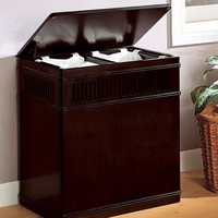 Wood Laundry Hamper at Brookstone—Buy Now!