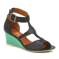 Wedge Sandals with Leather Uppers