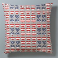 US Hearts Printed Cotton Pillowcases