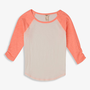 Ruffled Sleeve Baseball Tee