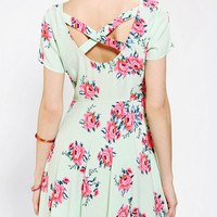 Urban Outfitters - Pins And Needles Floral Cross-Back Dress