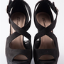 Heads Above Peep Toe Wedges - Black from Evening & Club at Lucky 21 Lucky 21