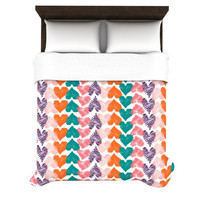 "Louise Machado ""Hearts"" Duvet Cover 
