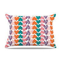 Louise Machado &quot;Hearts&quot; Pillow Case | KESS InHouse