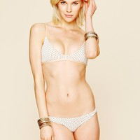 Free People Drawstring Polka Dot Bikini