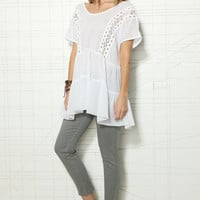 Free People Ashore Washed Top at Urban Outfitters