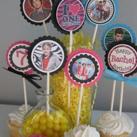 One Direction 1D Cupcake Toppers Personalized Harry Styles Niall Liam Zahn by Time2celebrate