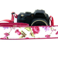 dSLR Camera Strap. Roses Camera Strap. Women accessories