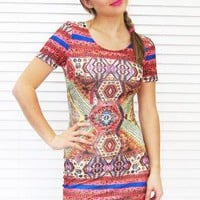 Dress Moroccan Body Con Mini