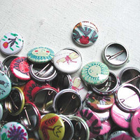 buy one get one PIN BUTTON DEAL set of two art pinback buttons