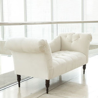 White Pandora Settee