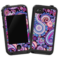 Brilliant Jewel Tone Paisley Skin for Lifeproof iPhone 4/4s Case