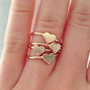 Gold-Tone Thin Heart Shaped Ring