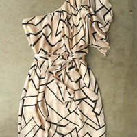 Geometric Angles Dress [3082] - $38.00 : Vintage Inspired Clothing & Affordable Summer Frocks, deloom | Modern. Vintage. Crafted.