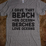 Beaches Love Oceans - Beachspeech - Skreened T-shirts, Organic Shirts, Hoodies, Kids Tees, Baby One-Pieces and Tote Bags