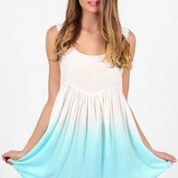 Mint Ombre Sleeveless Dress