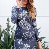 Superhero Gray Dress