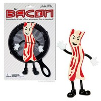 Bendable Mr. Bacon Action Figure - Whimsical &amp; Unique Gift Ideas for the Coolest Gift Givers