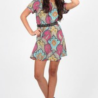 Multicolor Paisley Print Shift dress